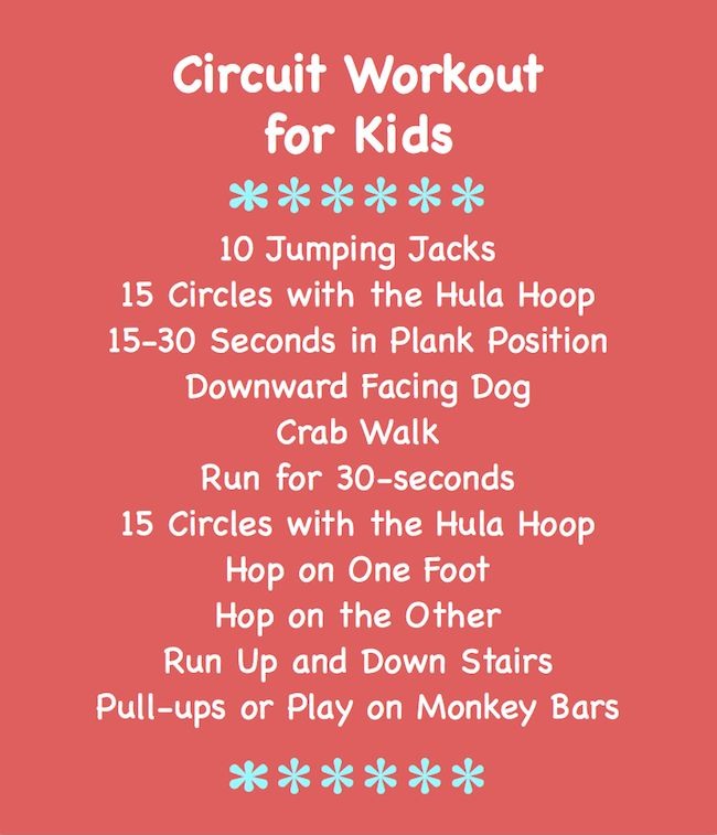 Circuit Workout for Kids
