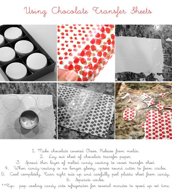 how to use edible chocolate transfer sheets