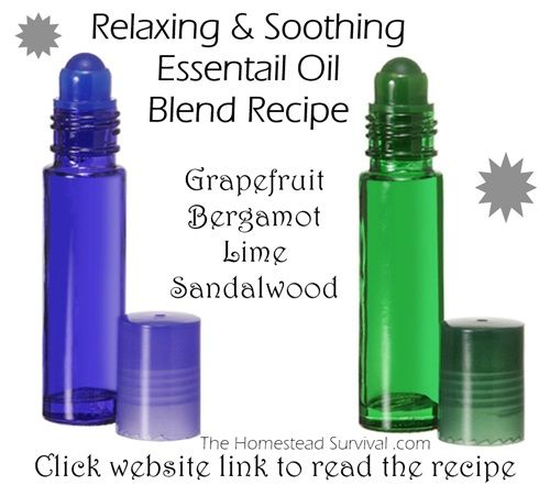 Relaxing & Soothing Essential Oil Blend Recipe - Alternative to Lavender based recipe - The Homestead Survival - Natural Remedies