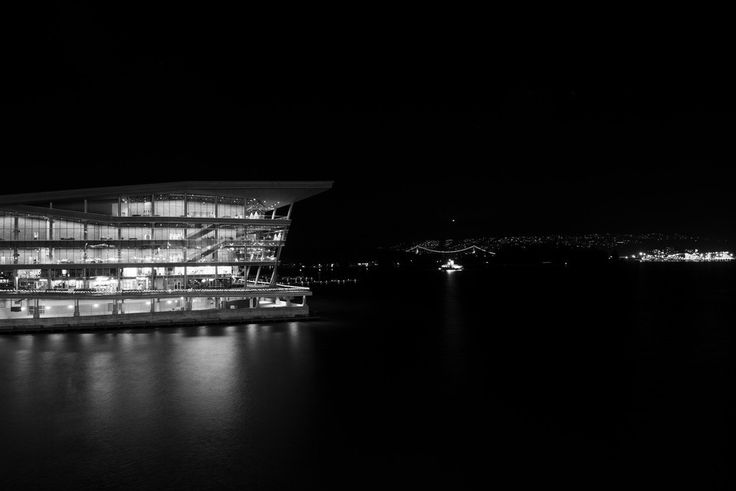 """""""Canada Place"""" - There is a peace when gazing upon Canada Place and the Vancouver harbour at night. I wanted to stay. Buy this print. http://dougf.ca #travel #city #cityscape #harbour #canadaplace #vancouver #bc #canada #explorebc #explorecanada #blackandwhite #bw #bnw #nikond600 #fineartprint #dougfca"""