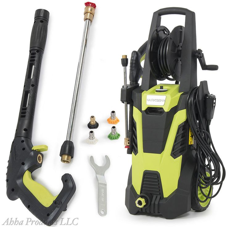 Electric Pressure Washer Cleaner Machine 3000 PSI w/ Hose Reel Tank Nozzles Set #Unbranded