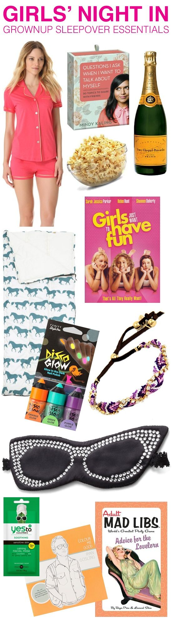 What you need to throw a grownup sleepover party for your girlfriends!