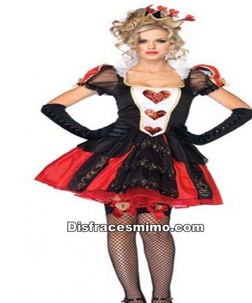 Disfracesmimo disfraz de reina de corazones negro y rojo - Disfraces el gato negro ...