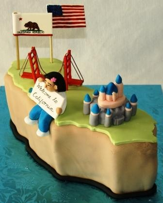 Welcome To California Celebration Cake