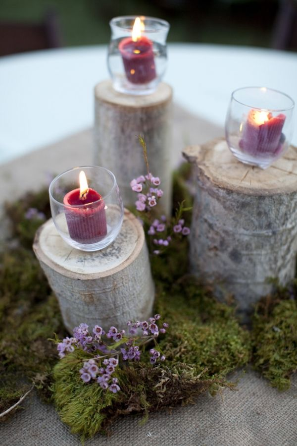 Best ideas about rustic candle centerpieces on