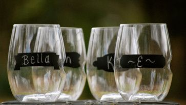 Personalized Shatterproof 16-Ounce Stemless Wineglass by Aly Garrett Designs - contemporary - cups and glassware - Etsy