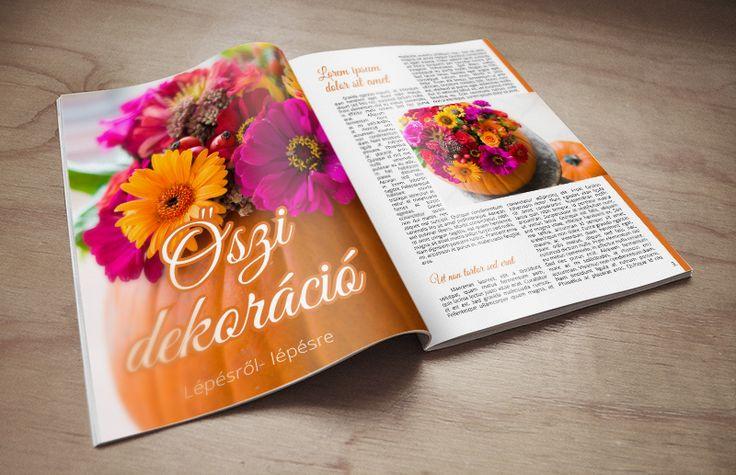 magazin tördelés Kiadványszerkesztés Online Tanfolyam www.designakademia.hu