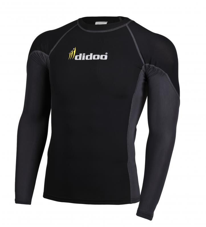 This Shirt has an ergonomic design with a flat seam construction, designed to reduce chafing and Improve the fit to enhance performance. This product is 100% Genuine and come with tags.   Ideal as a base layer or for training, Didoo Shirts are a tight fit compression garment. All Season Compression Baselayer which keeps you cool when its hot and keeps you hot when its cool.