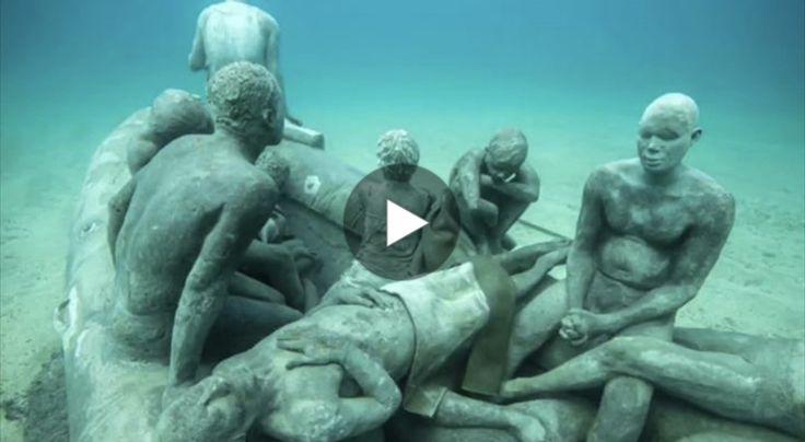 A Lanzarote, nelle Isole Canarie, è stato realizzato il primo museo subacqueo d'Europa. Le opere, realizzate dall'eco-scultore Jason DeCaires Taylor raccon