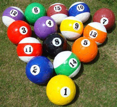 Fußball Billard - Soccer Pool - Bälle Größe 4 -