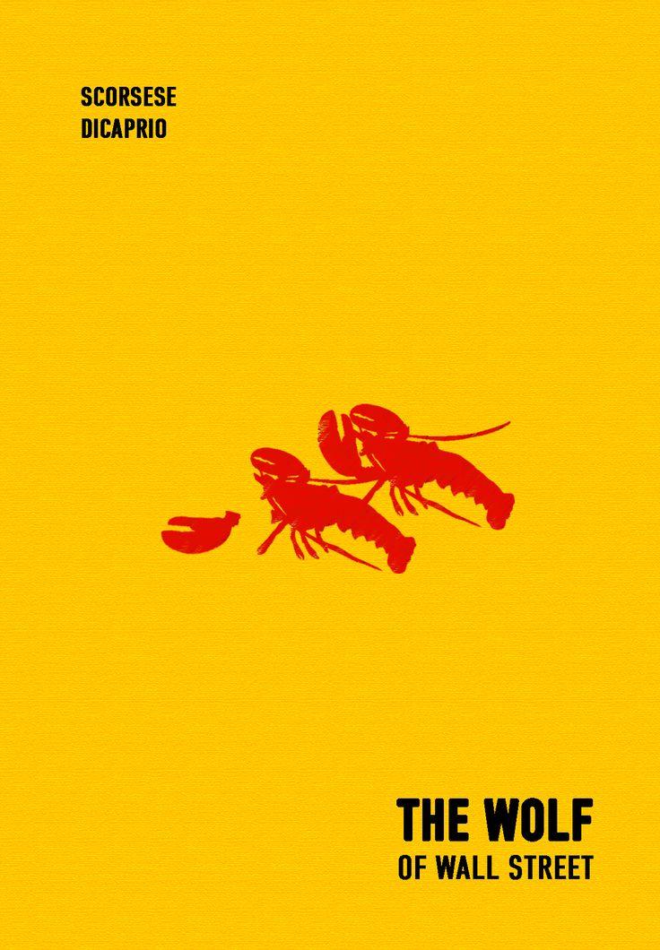 "Cartel minimalista ""The Wolf of Wall Street"""