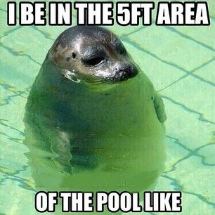 SWIMMING. | 30 Awkward Moments Every Short Girl Understands hahahah!