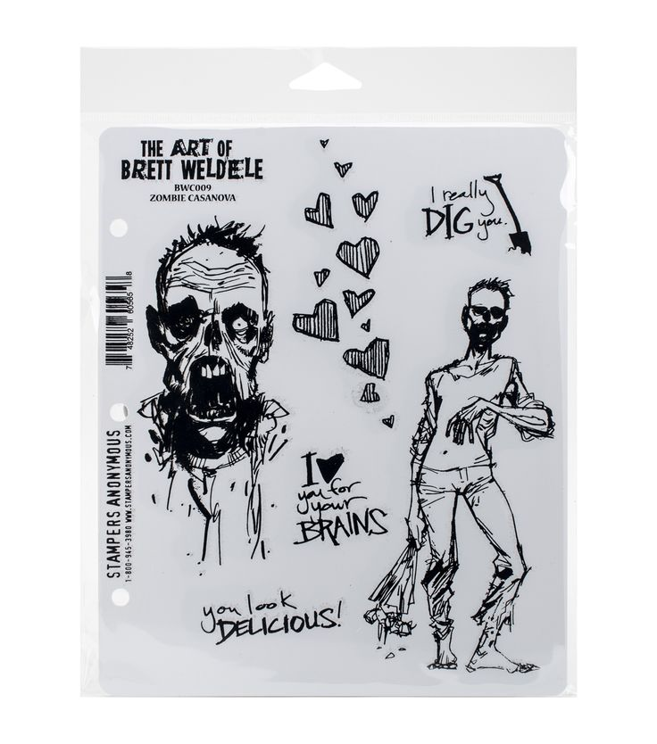Stampers Anonymous Zombie Casanova Cling Rubber Stamps