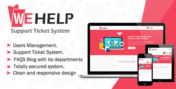 WeHelp - Ticket Support System Nulled | Nulled Wordpress Themes