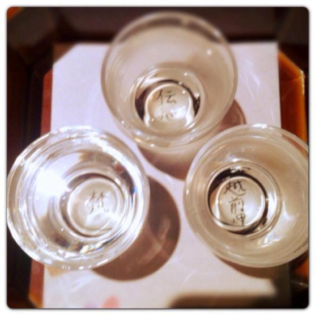 あんまり飲まない日本酒で迎え酒 意外とイケる!! 迎え酒がイケるじゃなくて、地酒がイケる - 34件のもぐもぐ - 福井の地酒飲み比べ@福井 by Fumi