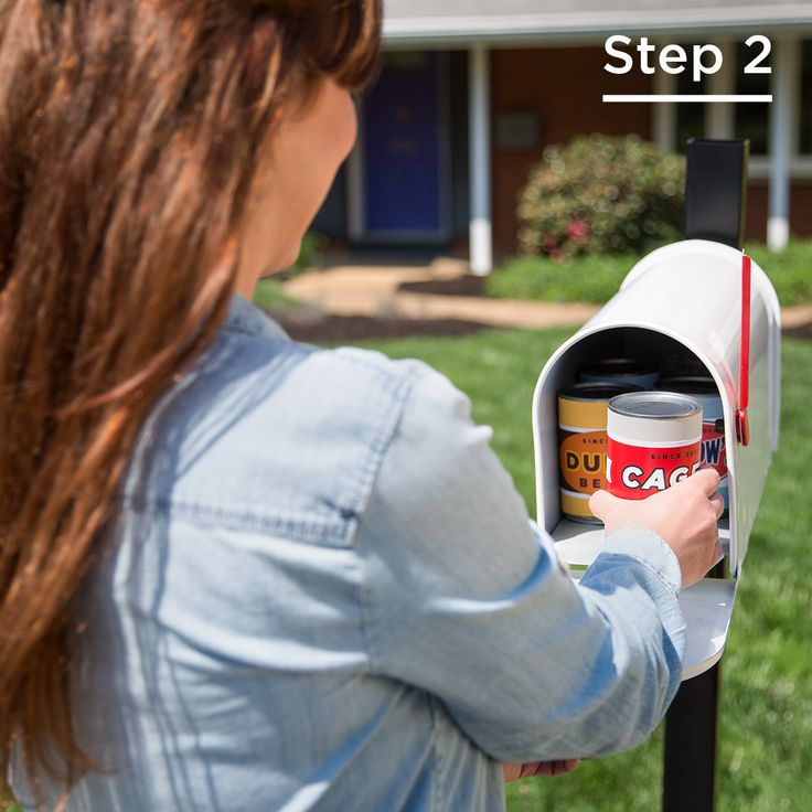 Step 2: Leave cans at your mailbox