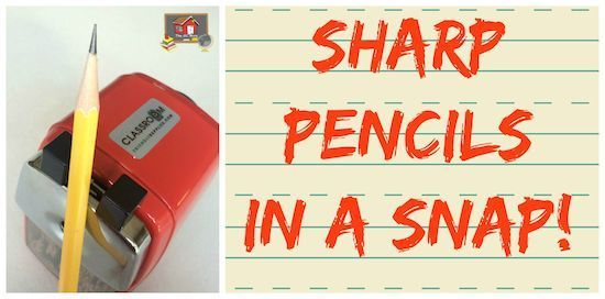 Sharp Pencils in a Snap! - The Organized Classroom Blog