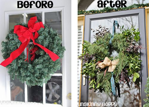 how to make a wreath from tree clippings