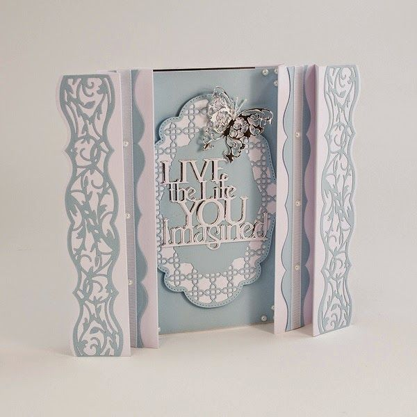 Blog tonic: Folded Deco Ovals - Live The Life - a Card from Karen