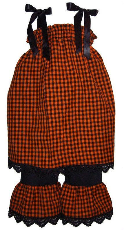 Pillowcase Dress & Pants Set Halloween by littlemimisboutique, $30.95