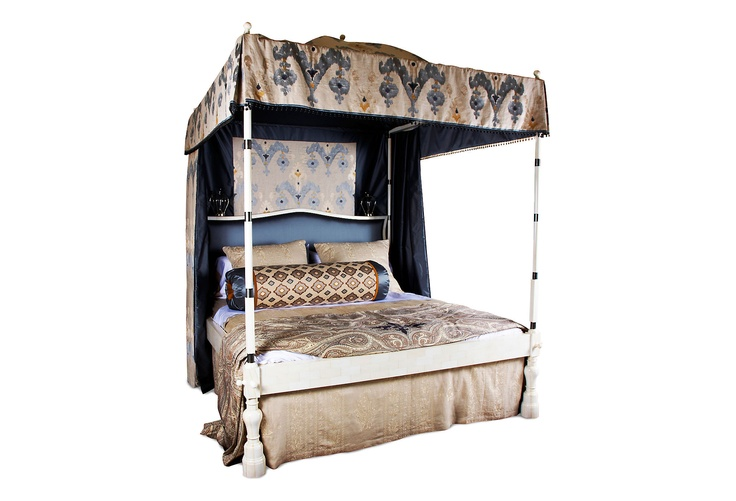 One Kings Lane - Martyn Lawrence Bullard - Custom Canopy Bed w/ Bedskirt, King