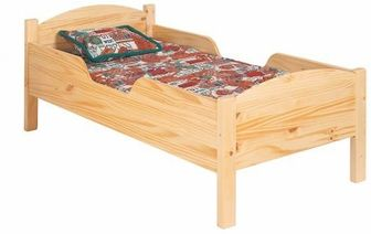 American Made Traditional Toddler Bed - Natural, 088-NA-NC by Little Colorado | BizChair.com
