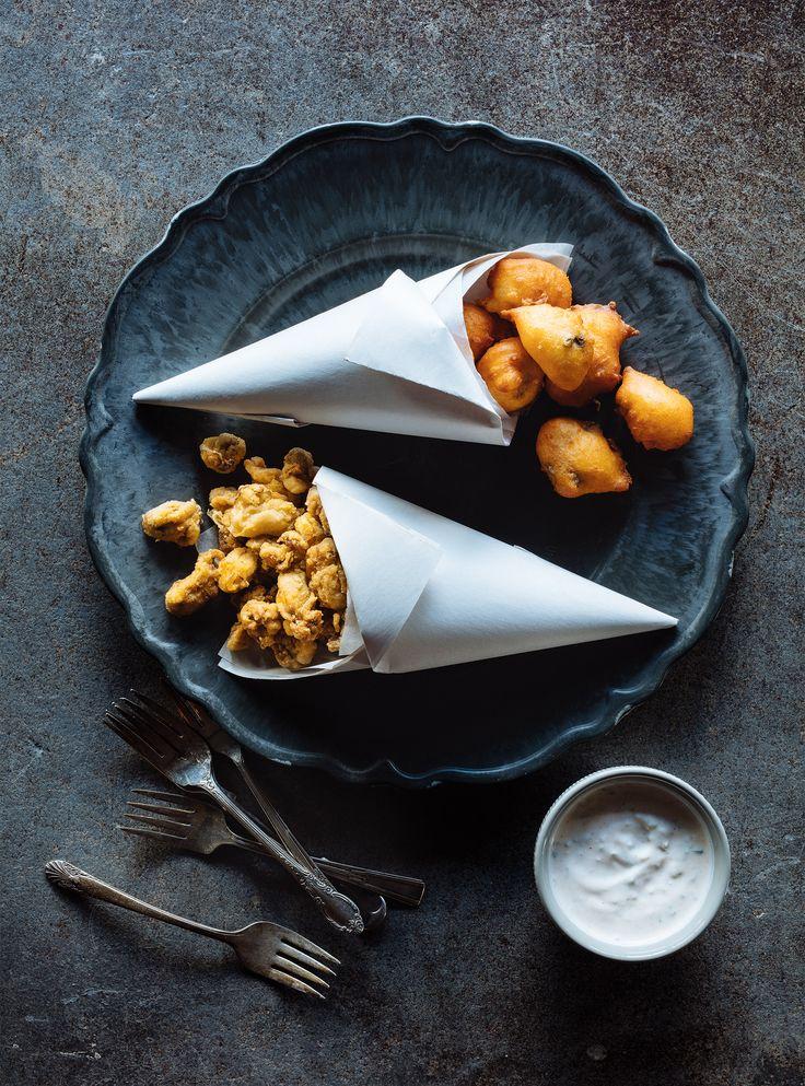 Recette de beignets de maïs aux huîtres de ricardo