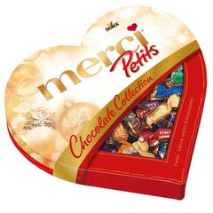 -in USA- Storck MERCI Chocolate Collection HEART box of chocolates -250g