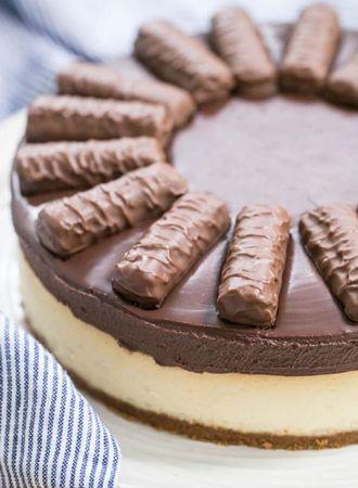 Vieruurtje: Overheerlijke Twix Cheesecake om je vingers bij af te likken