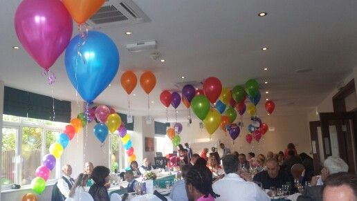 Bright colours! Balloons, sashes