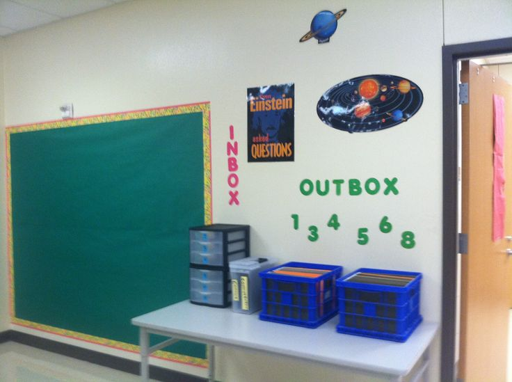 Student assignment station.  My 7th grade science classroom organization!