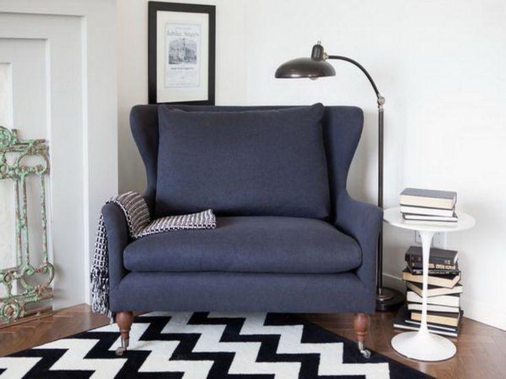 Cool Reading Chairs Dark Grey Sofa
