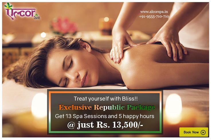 Rejuvenate your mind, body and soul with the Exclusive Republic Package. Enjoy 13 spa sessions and 5 happy hours at just Rs. 13,500/- only. Hurry, offer valid till 31st January, 2017!!