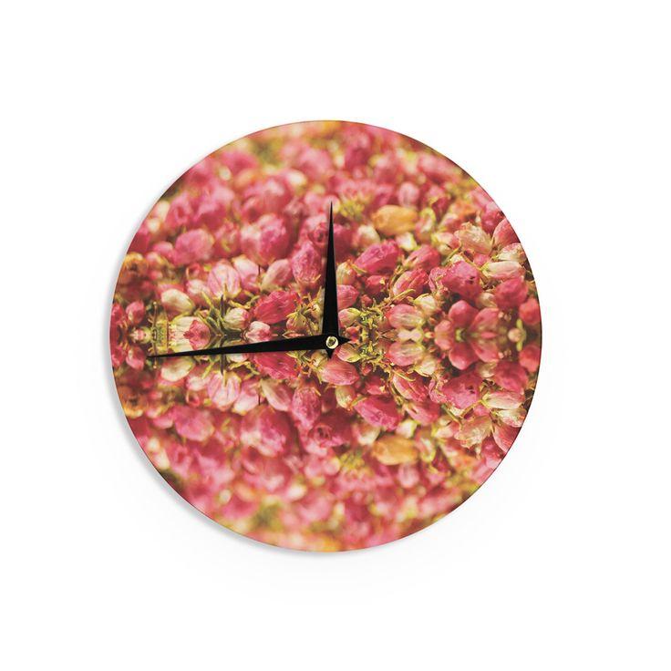 "Akwaflorell ""Close to You"" Red Orange Wall Clock"