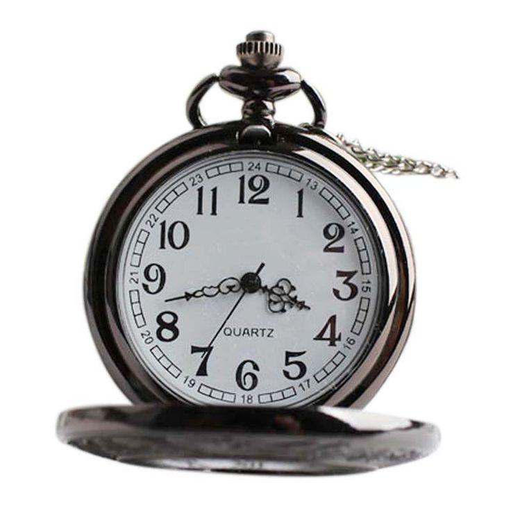 $2.72 (Buy here: https://alitems.com/g/1e8d114494ebda23ff8b16525dc3e8/?i=5&ulp=https%3A%2F%2Fwww.aliexpress.com%2Fitem%2FPocket-Watch-Ms-Roman-hollow-retro-black-quartz-watch-super-male-watch-LXH%2F32792610260.html ) Pocket Watch Ms Roman hollow retro black quartz watch super male watch  LXH for just $2.72