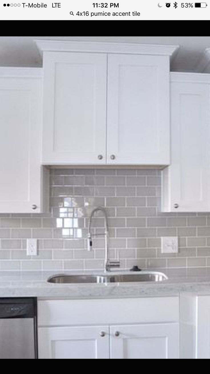 Pumice Tile Backsplash New Home Kitchen Pinterest