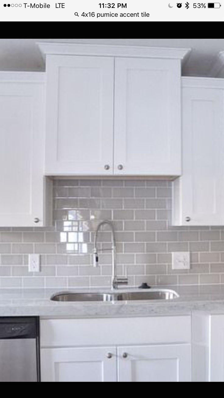 Pumice tile backsplash