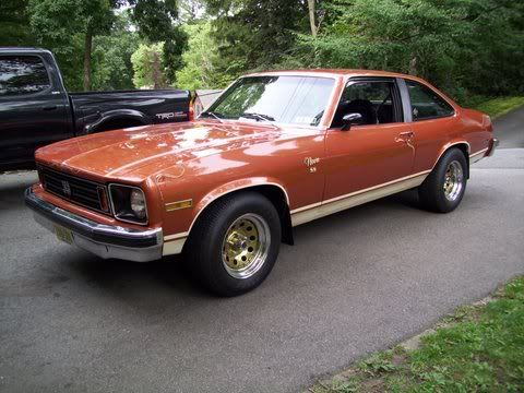 this was my first car!! (without the gold wheels of course)  1975 Chevy Nova SS