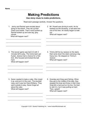 Worksheets Making Predictions Worksheets 3rd Grade 1000 ideas about making predictions on pinterest prediction instant worksheets