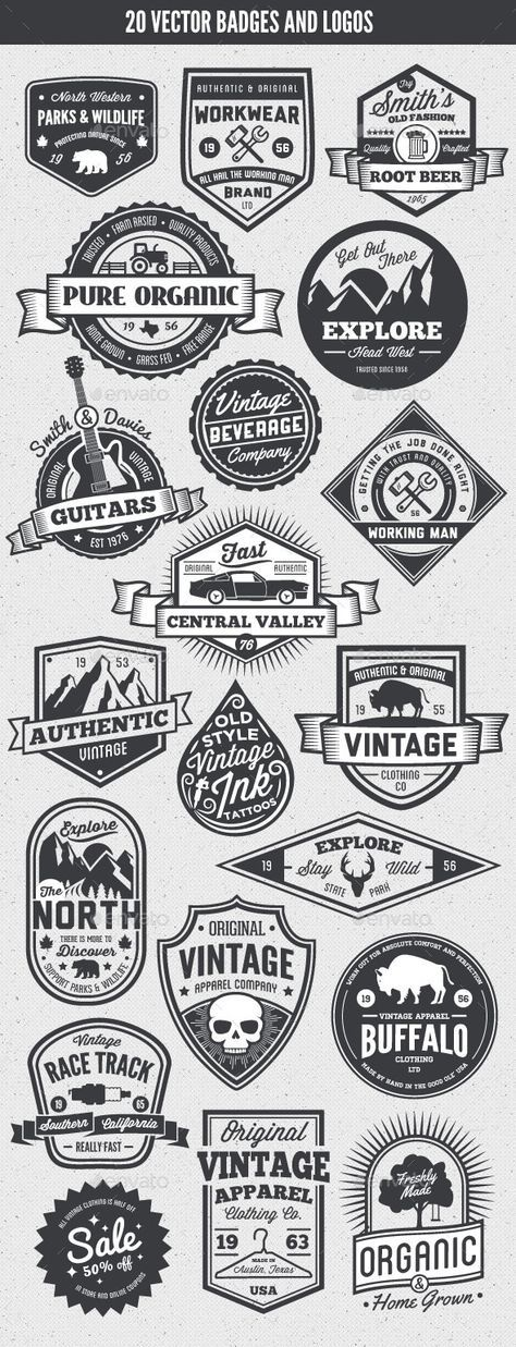 Vintage Style Badges and Logos | Buy and Download: http://graphicriver.net/item/-vintage-style-badges-and-logos-vol-5/8925417?WT.ac=category_thumb&WT.z_author=GraphicMonkee&ref=ksioks