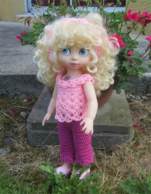 36- FICHE PATRON Cendrillon pour poupée Animator de 38 cm : Jeux, jouets par atelier-crochet