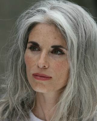 LOVE ::long grey hair:: and the evening high drama makeup here