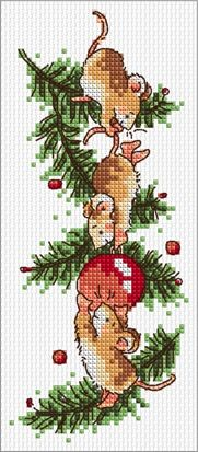Bauble Mice Margaret Sherry Cross Stitch Christmas SLKD27 – £3.95