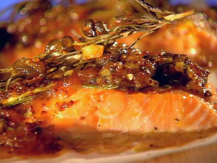 Johnny Garlic's Cedar Plank Salmon.. Guy Fieri    In his cookbook he says to seed the jalapeños. Awesome recipe!