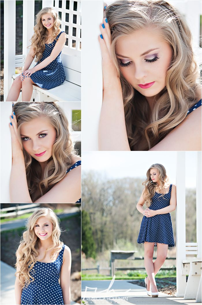 senior pictures in the gardens poses for girls by Rebecca Houlihan Photography