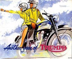 Triumph motorcycle ad