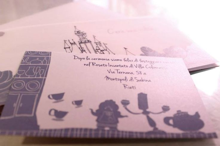 Matrimonio.it | #Partecipazioni a Roma con LA TUA IDEA #inviti  #Disney #Belle