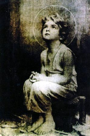 "Miraculous image of the Child Jesus— A monk on the desert is reported to have taken a picture of the Holy Eucharist while exposed. Upon developing the film, this image of the child Jesus appeared. Sometime later, Jesus told this same monk that he would, ""I promise to send my blessings and my peace to each home where this image is found."" Look at that sweet face! Jesus, I love You and place my Trust in YOU! :D"
