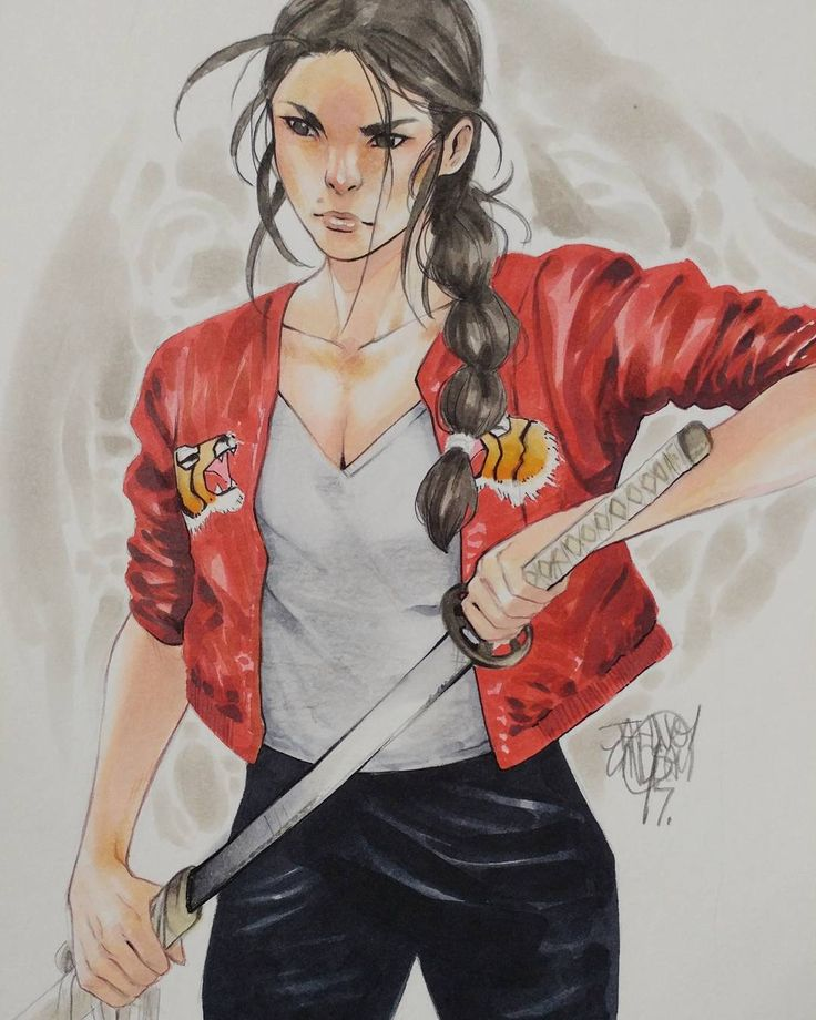 """Colleen Wing played by Jessica Henwick on Netflix Marvel's Iron Fist- Jahnoy Lindsay (@jahnoyl) on Instagram: """"colleen wing. #markers #copic #prismacolor #colleenwing #jessicahenwick #ironfist #marvel #netflix"""""""