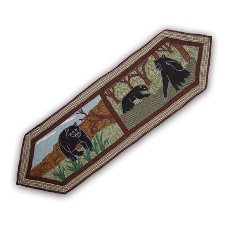 Bear Life, Runner Small 54 x 16 In. by PMG. $42.00. Top branded ensembles and bedding items. For a table with 6 place settings. Table top Décor. 16 x 72 Inches. Top quality Cotton product,hand layered and hand quilted. Bear Life, Runner Small 54 x 16 In.. Save 25%!